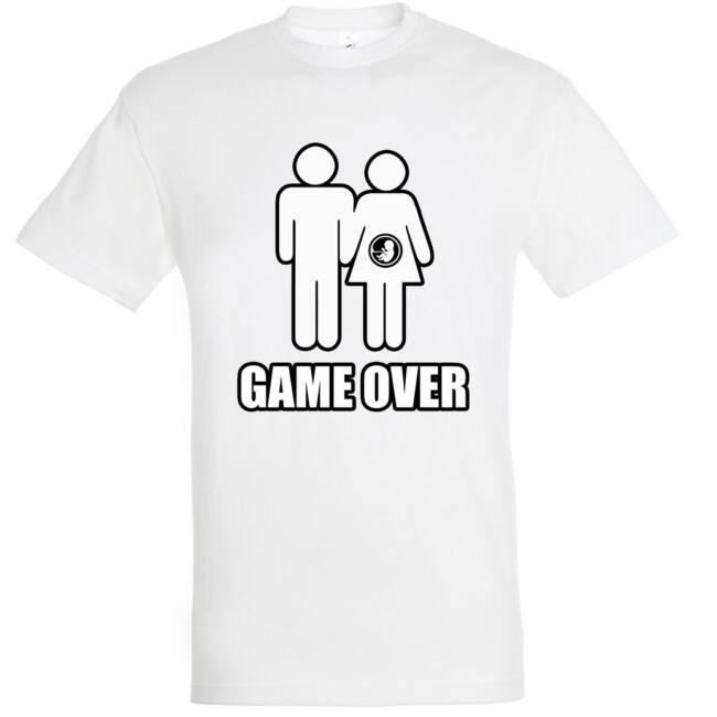 Game Over III. legénybúcsú póló fehér