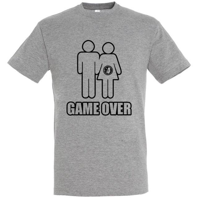 Game Over III. legénybúcsú póló grey melange szürke