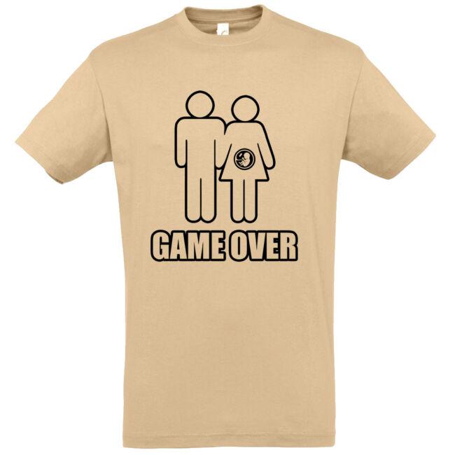 Game Over III. legénybúcsú póló homok