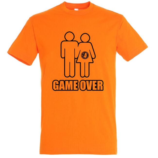 Game Over III. legénybúcsú póló narancssárga