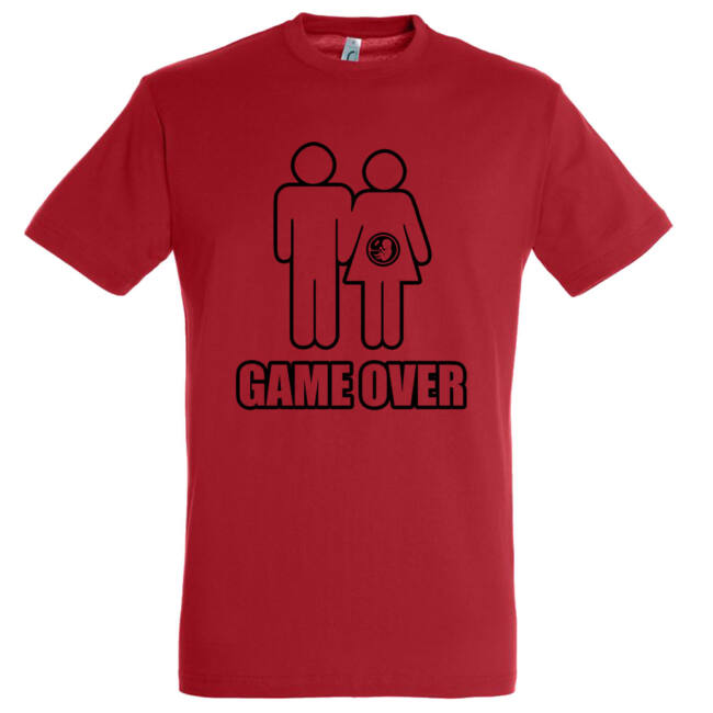 Game Over III. legénybúcsú póló piros