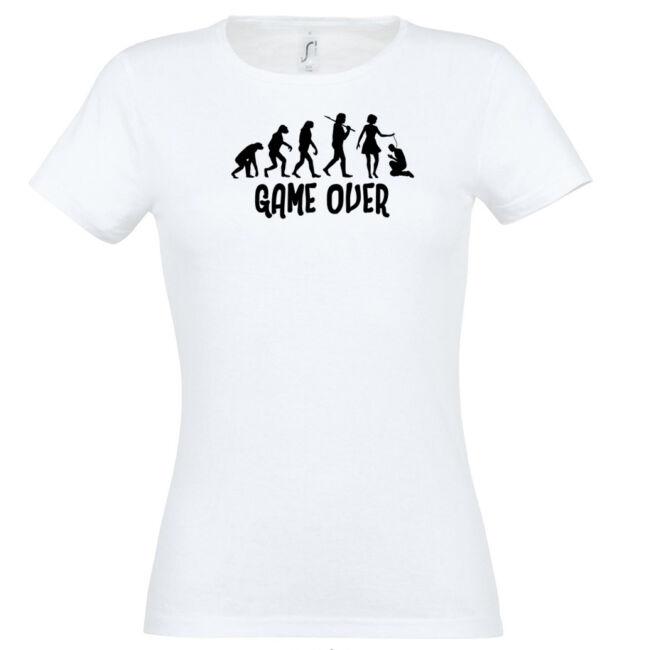 Game Over Evolúció I. lánybúcsú póló fehér