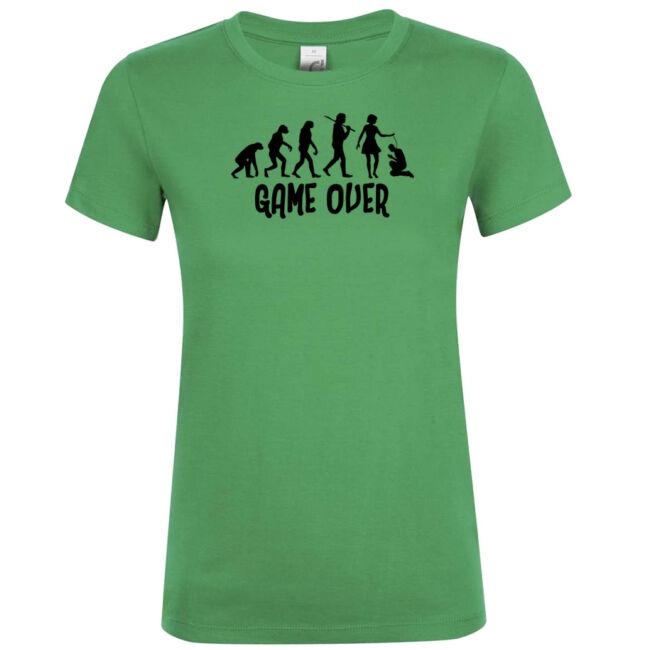 Game Over Evolúció I. lánybúcsú póló kelly green