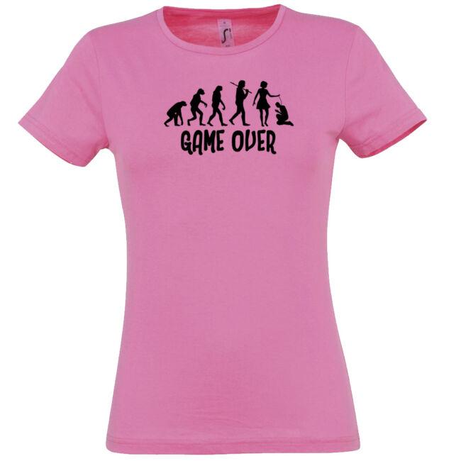 Game Over Evolúció I. lánybúcsú póló rózsaszín
