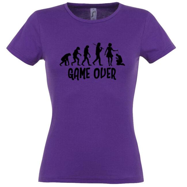 Game Over Evolúció I. lánybúcsú póló sötétlila