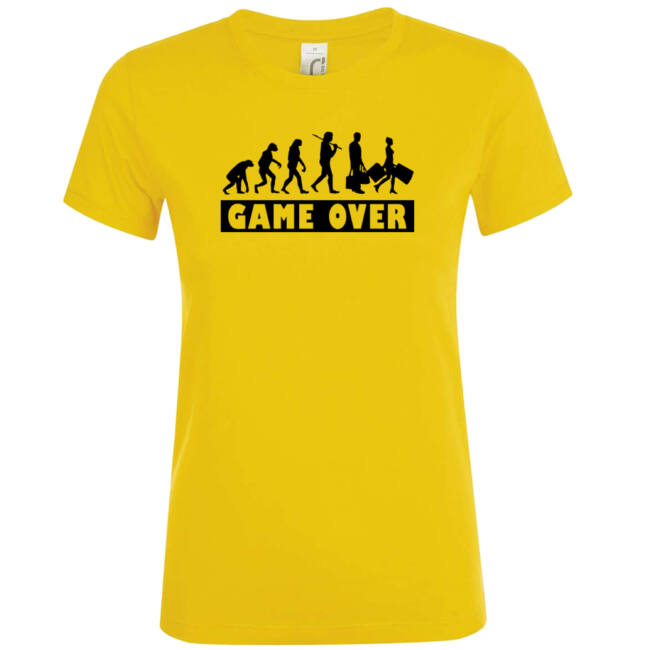 Game Over Evolúció II. lánybúcsú póló arany