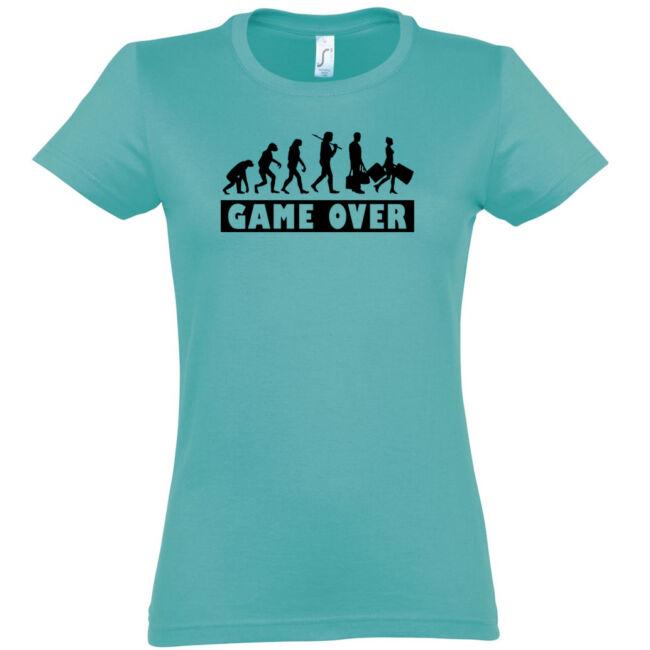 Game Over Evolúció II. lánybúcsú póló carribean blue