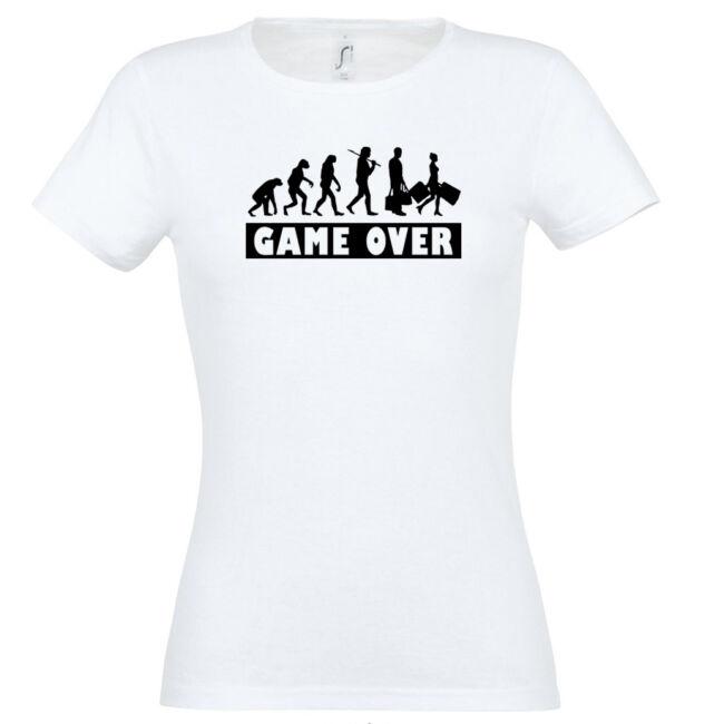 Game Over Evolúció II. lánybúcsú póló fehér