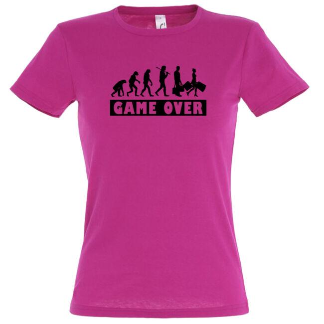Game Over Evolúció II. lánybúcsú póló fuchsia