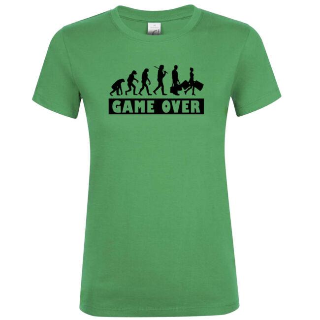 Game Over Evolúció II. lánybúcsú póló kelly green