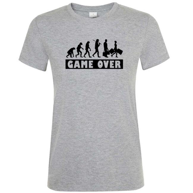 Game Over Evolúció II. lánybúcsú póló grey melange