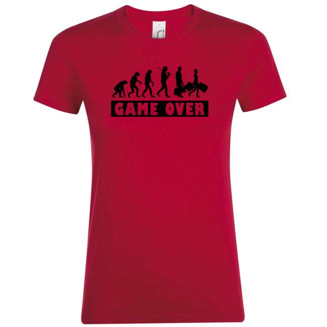 Game Over Evolúció II. lánybúcsú póló piros