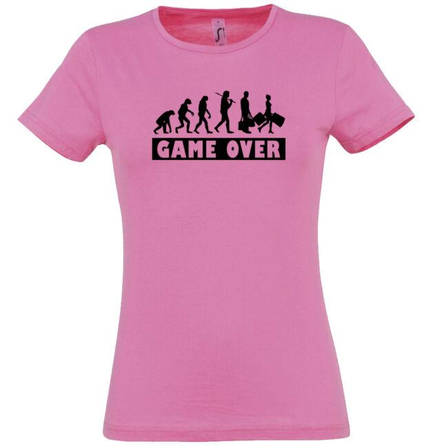 Game Over Evolúció II. lánybúcsú póló rózsaszín