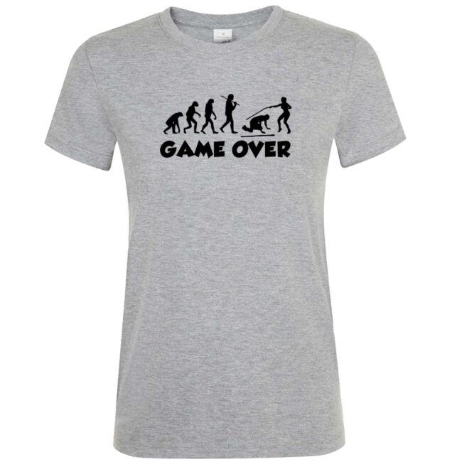 Game Over Evolúció III. lánybúcsú póló grey melange