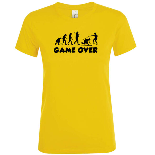 Game Over Evolúció III. lánybúcsú póló arany