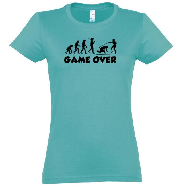 Game Over Evolúció III. lánybúcsú póló carribean blue