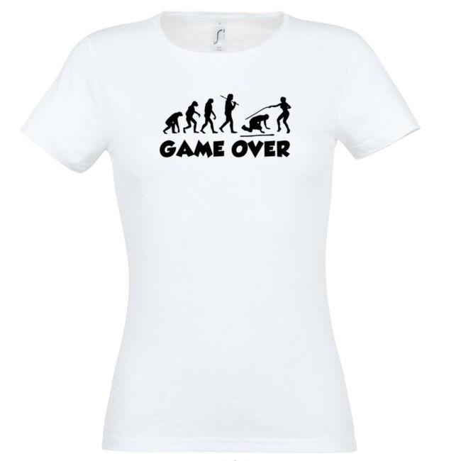 Game Over Evolúció III. lánybúcsú póló fehér