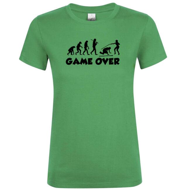 Game Over Evolúció III. lánybúcsú póló kelly green