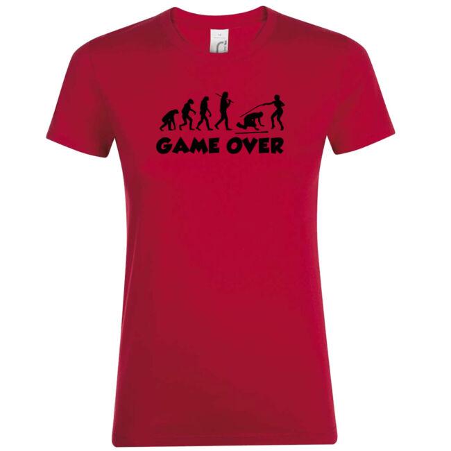 Game Over Evolúció III. lánybúcsú póló piros