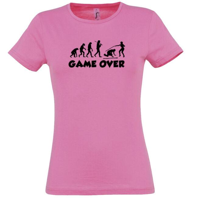 Game Over Evolúció III. lánybúcsú póló rózsaszín