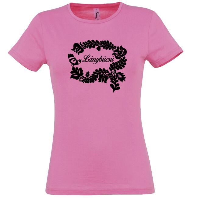 Magyar népmesék lánybúcsú póló rózsaszín