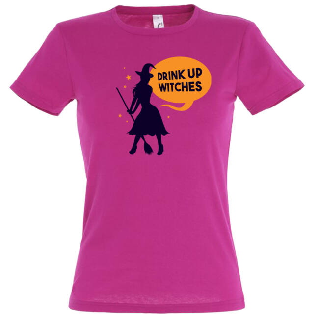 Drink up witches feliratos lánybúcsú póló több színben. Boszonykányoknak ajánlott!