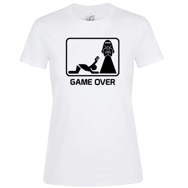 Game Over kártyás lánybúcsú póló több színben