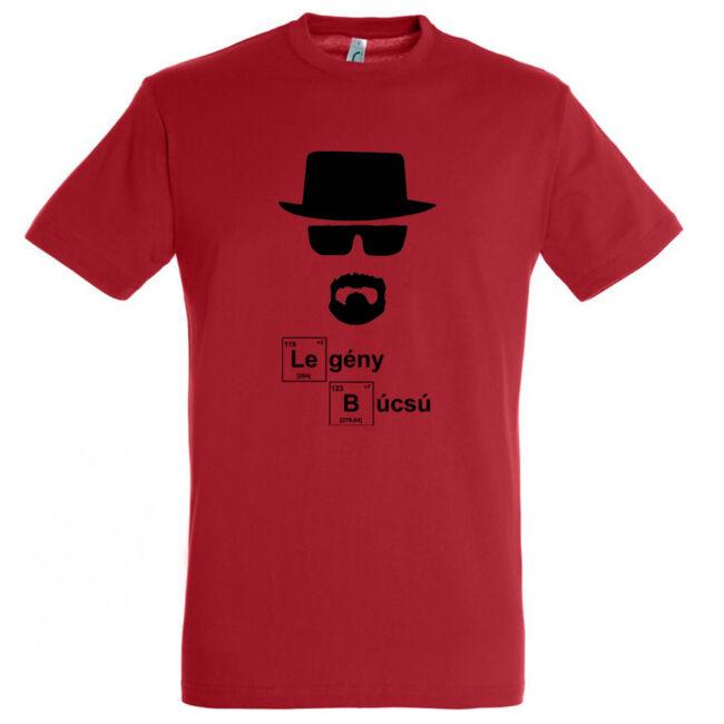 Heisenberg legénybúcsú póló piros