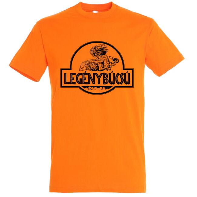 Jurassic Park legénybúcsú póló narancssárga