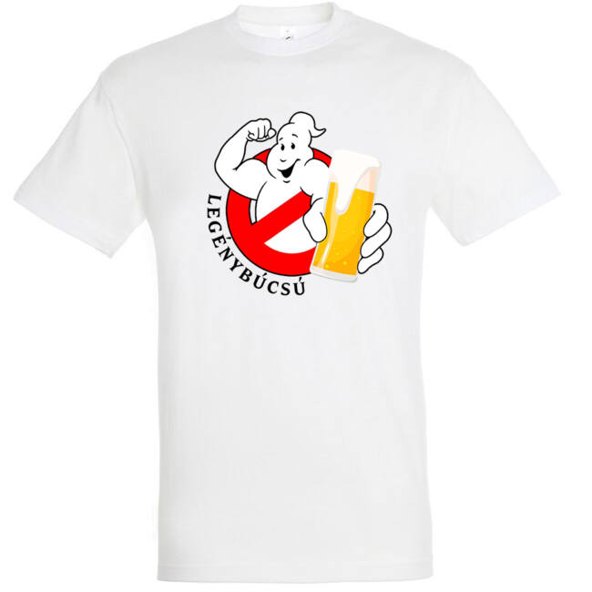Ghostbusters legénybúcsú póló fehér