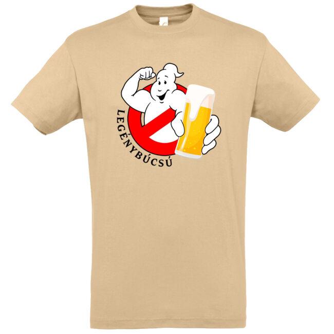 Ghostbusters legénybúcsú póló homok