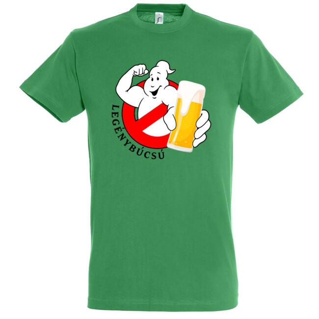 Ghostbusters legénybúcsú póló kelly green