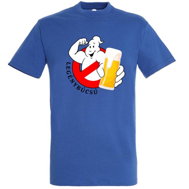 Ghostbusters legénybúcsú póló királykék