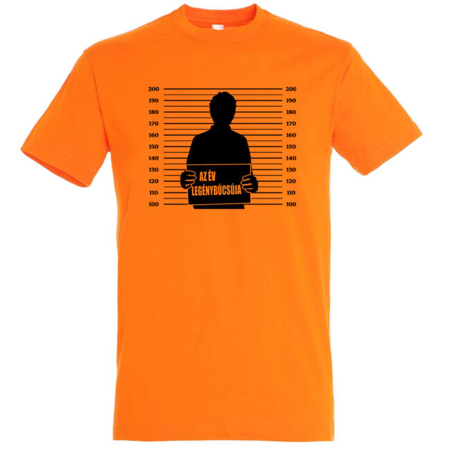 Az év legénybúcsúja póló narancssárga