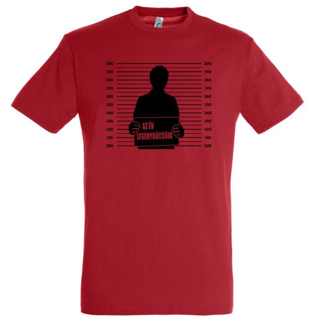 Az év legénybúcsúja póló piros