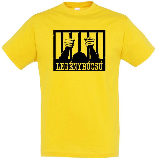 Börtön mintás legénybúcsú póló arany