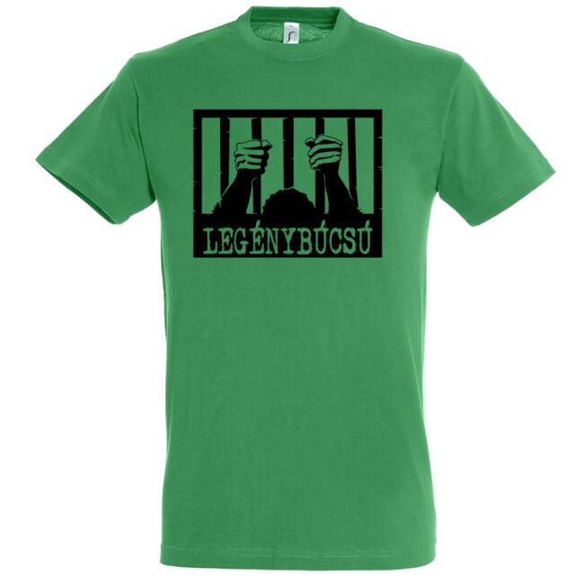 Börtön mintás legénybúcsú póló kelly green
