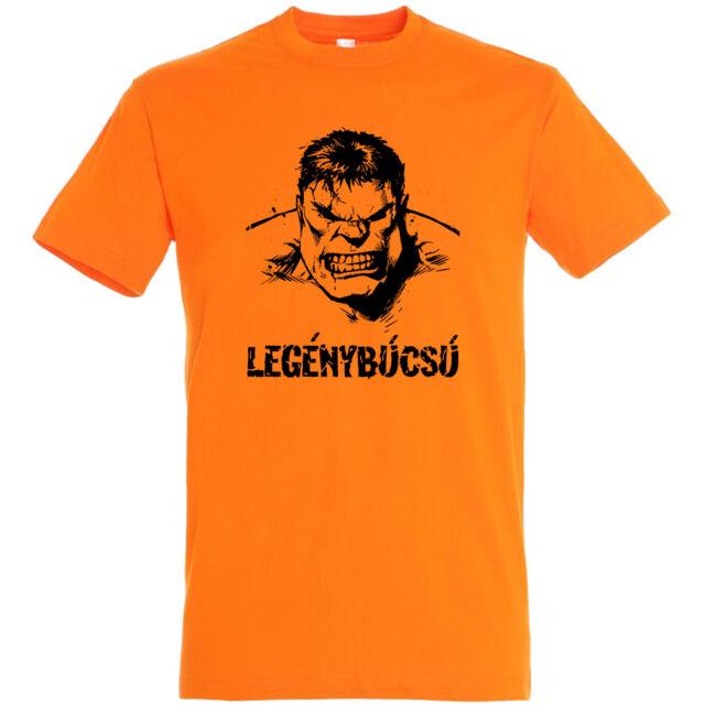 Hulk legénybúcsú póló narancssárga