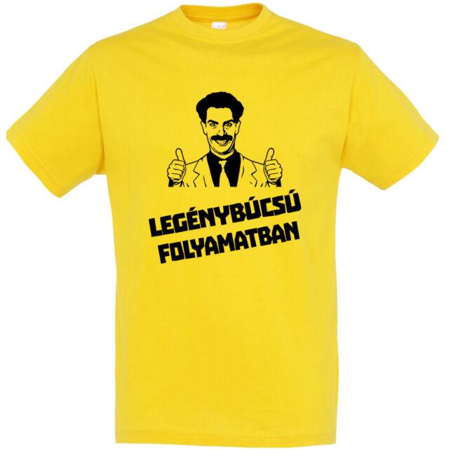 Borat legénybúcsú folyamatban póló arany