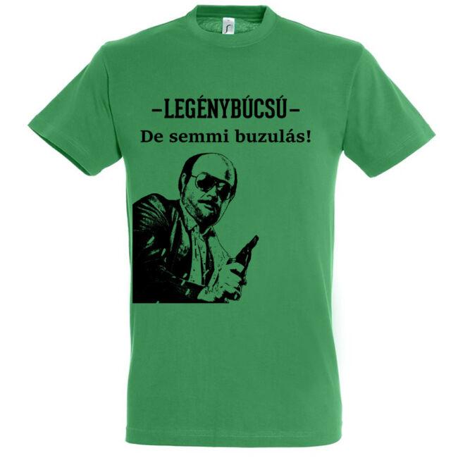 De semmi buzulás legénybúcsú póló kelly green