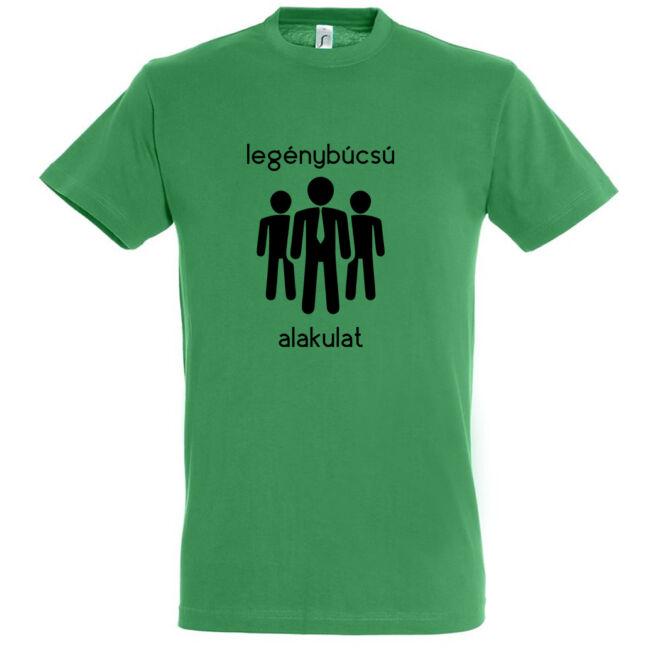 Legénybúcsú alakulat póló kelly green