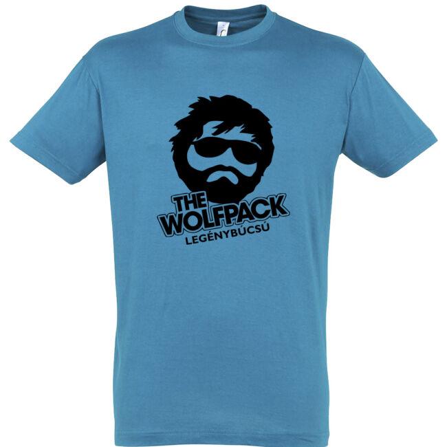 The Wolfpack legénybúcsú póló aqua színben