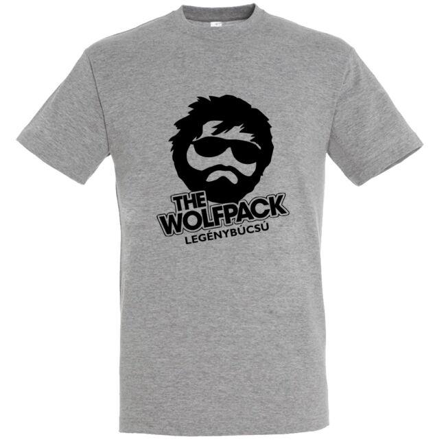 The Wolfpack legénybúcsú póló grey melange színben