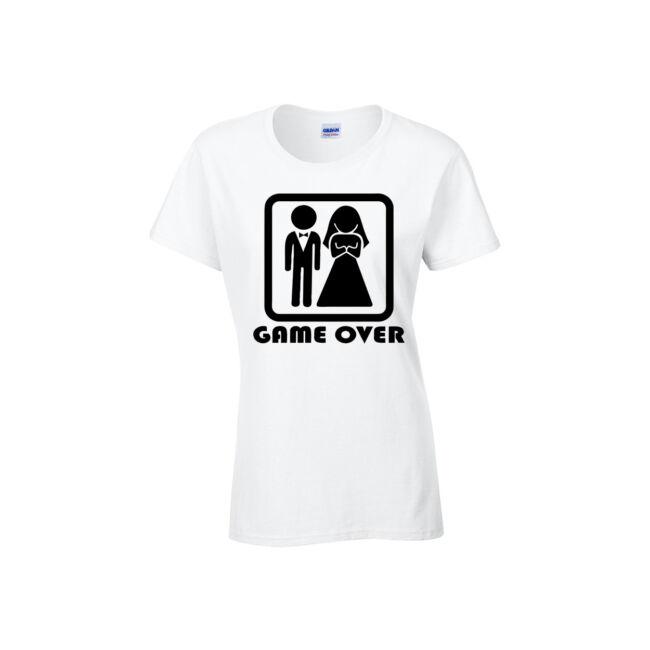 Game Over póló fehér női CSAK L méret