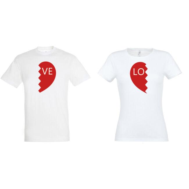Love női-ffi páros pólók fehér