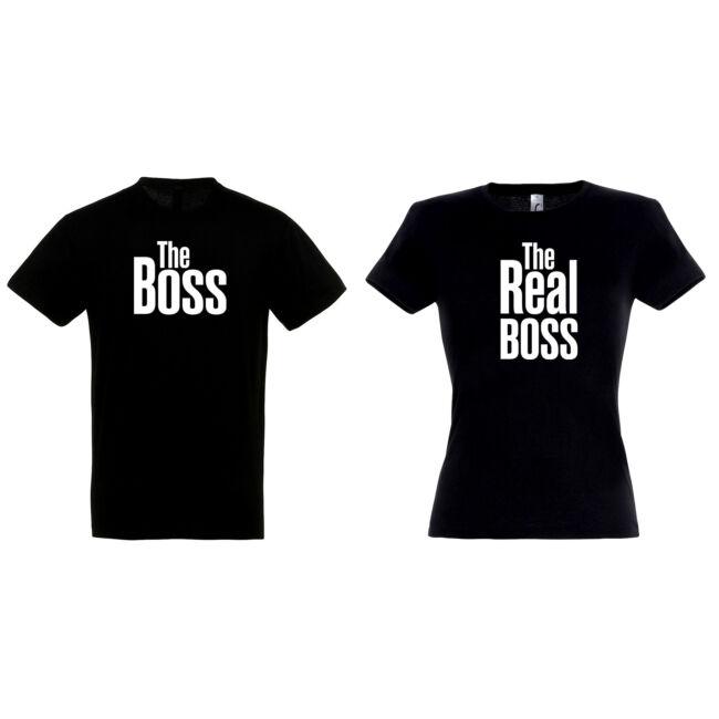 Boss - The Real Boss páros pólók fekete