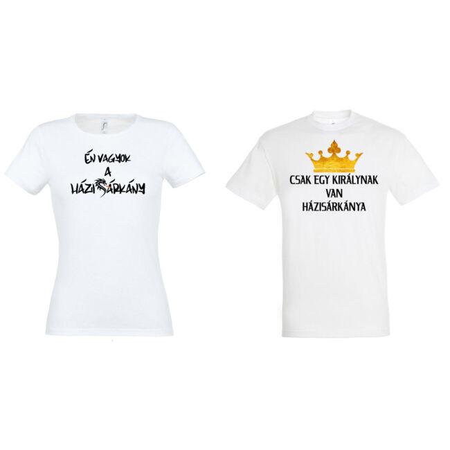 Király és Házisárkány páros pólók