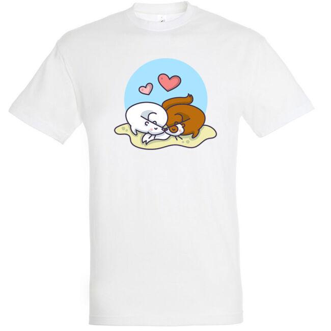 Alvó szerelmes görények póló