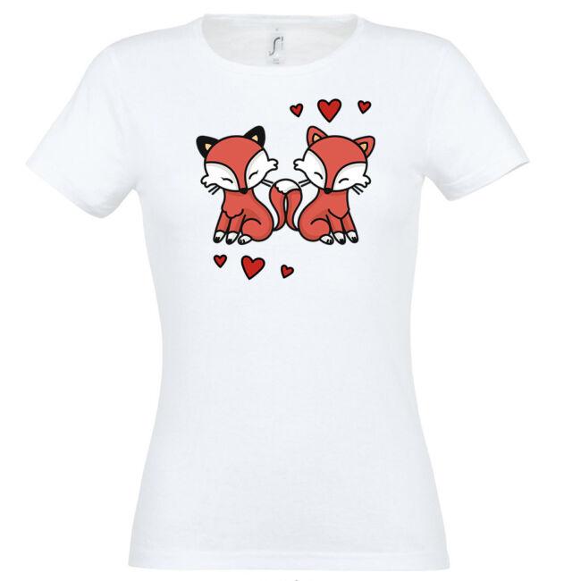 Szerelmes rókák póló