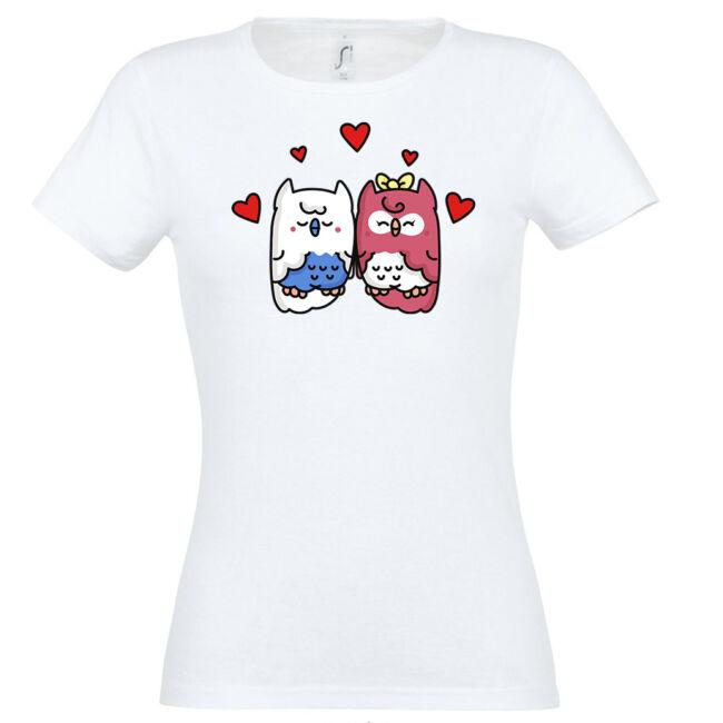 Szerelmes baglyok póló